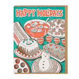 Happy Holidays Party Food Card by Lucky Horse Press
