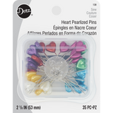 Heart Pearlized Pins - Multi-Colored