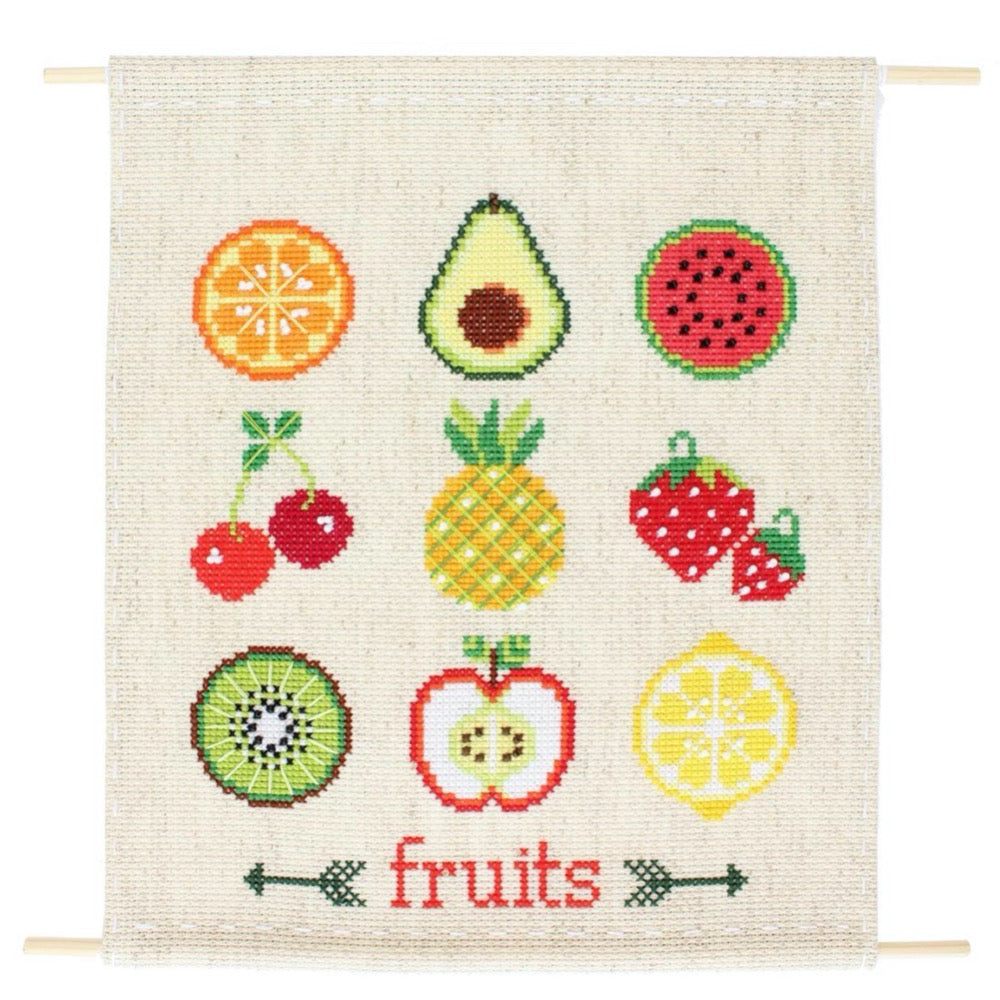 Fruit Sampler Cross Stitch Kit