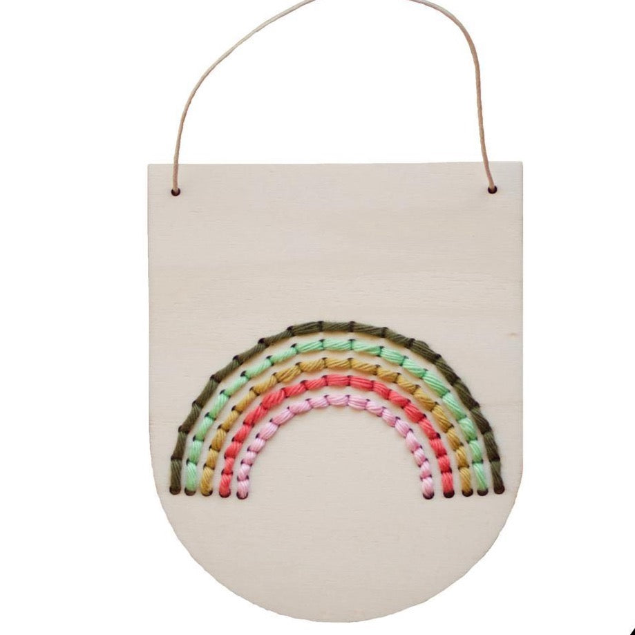 Rainbow Embroidery Banner Kit - Multicolor