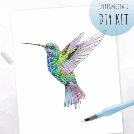 DIY Watercolor Kit - Hummingbird