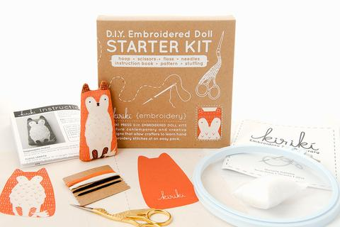 DIY Embroidered Doll Starter Kit - Fox
