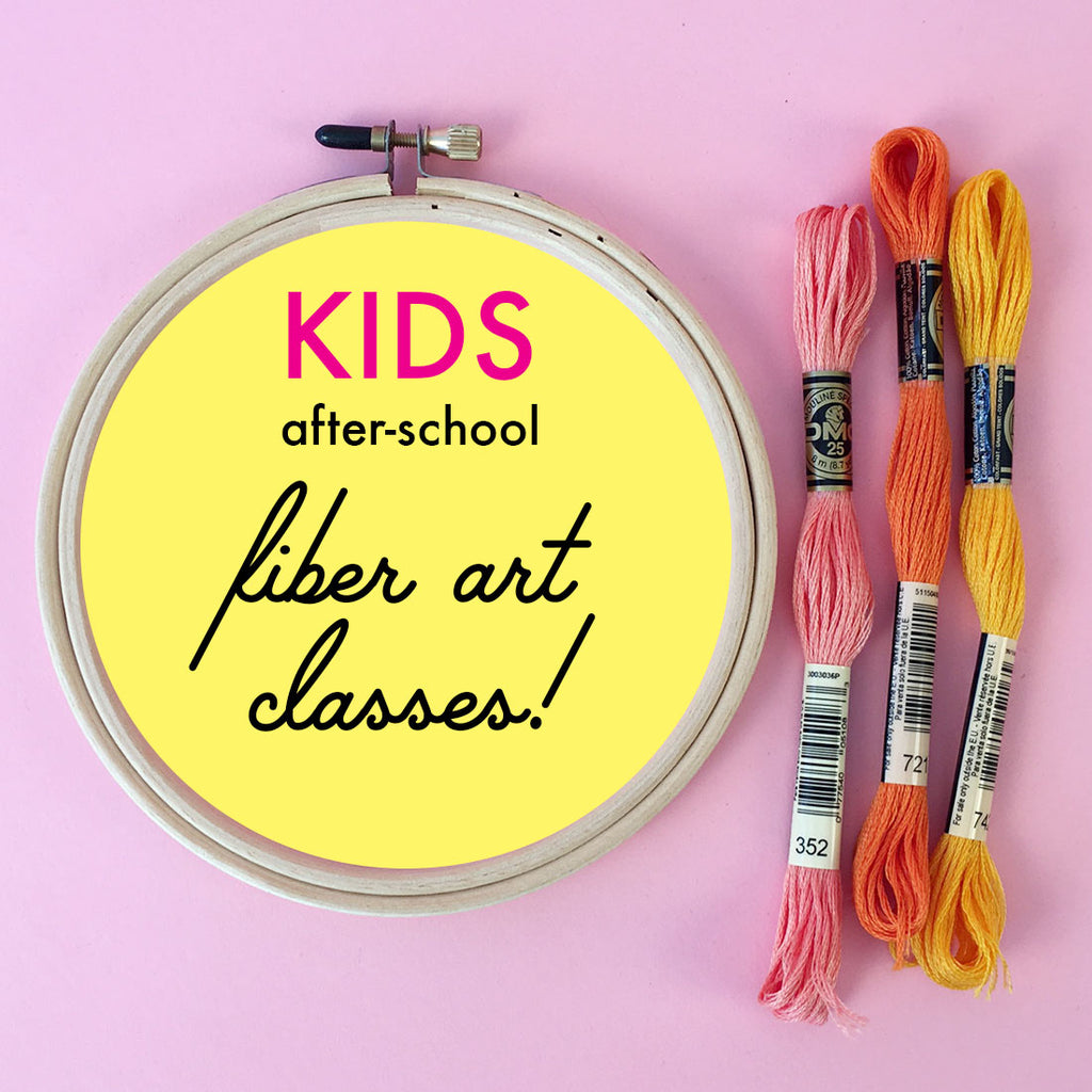 Kids After School Fiber Art Classes – Brooklyn Craft Company