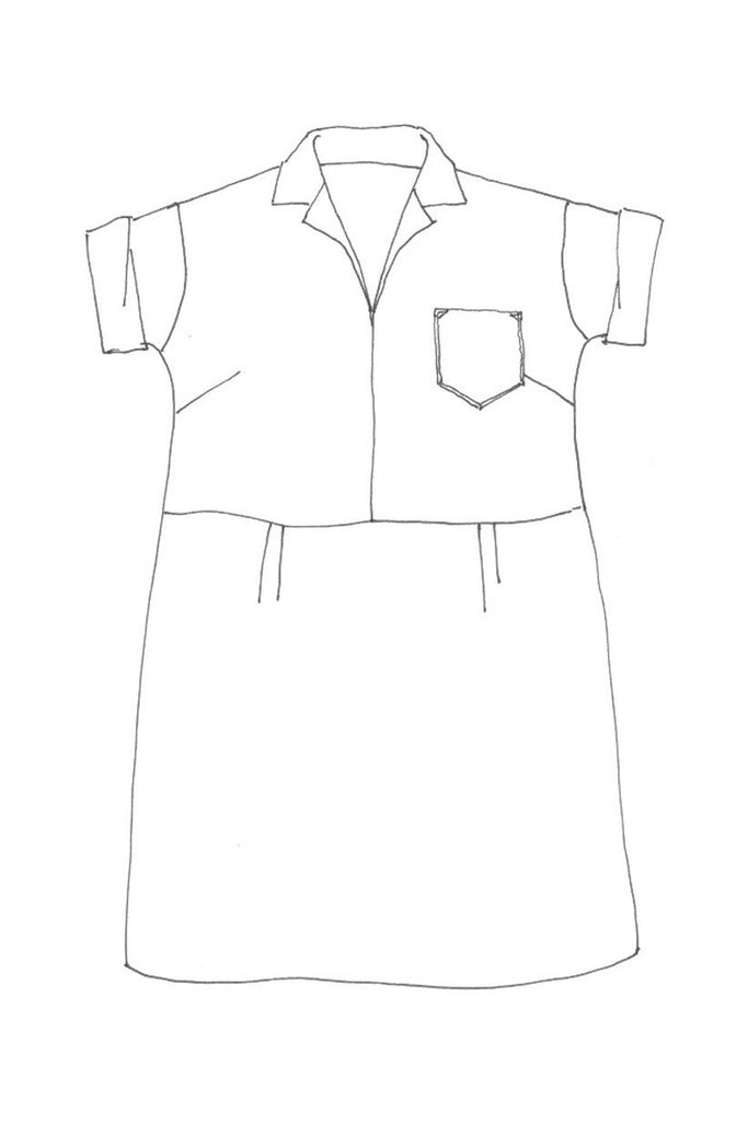 factory dress line drawing