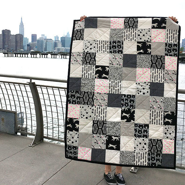 Super Easy Black & White Quilt Kit – Brooklyn Craft Company : black and white quilt kits - Adamdwight.com