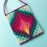 Bargello Needlepoint: Mini Wall Hanging