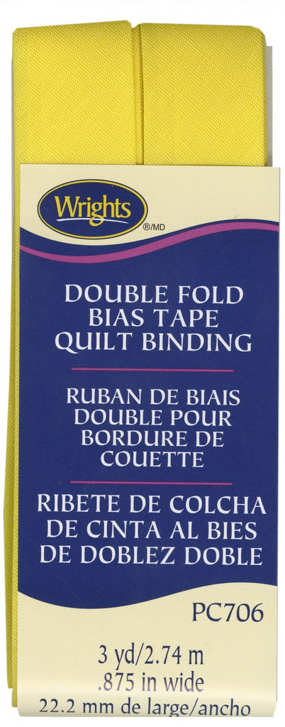 Double Fold Quilt Binding - Canary