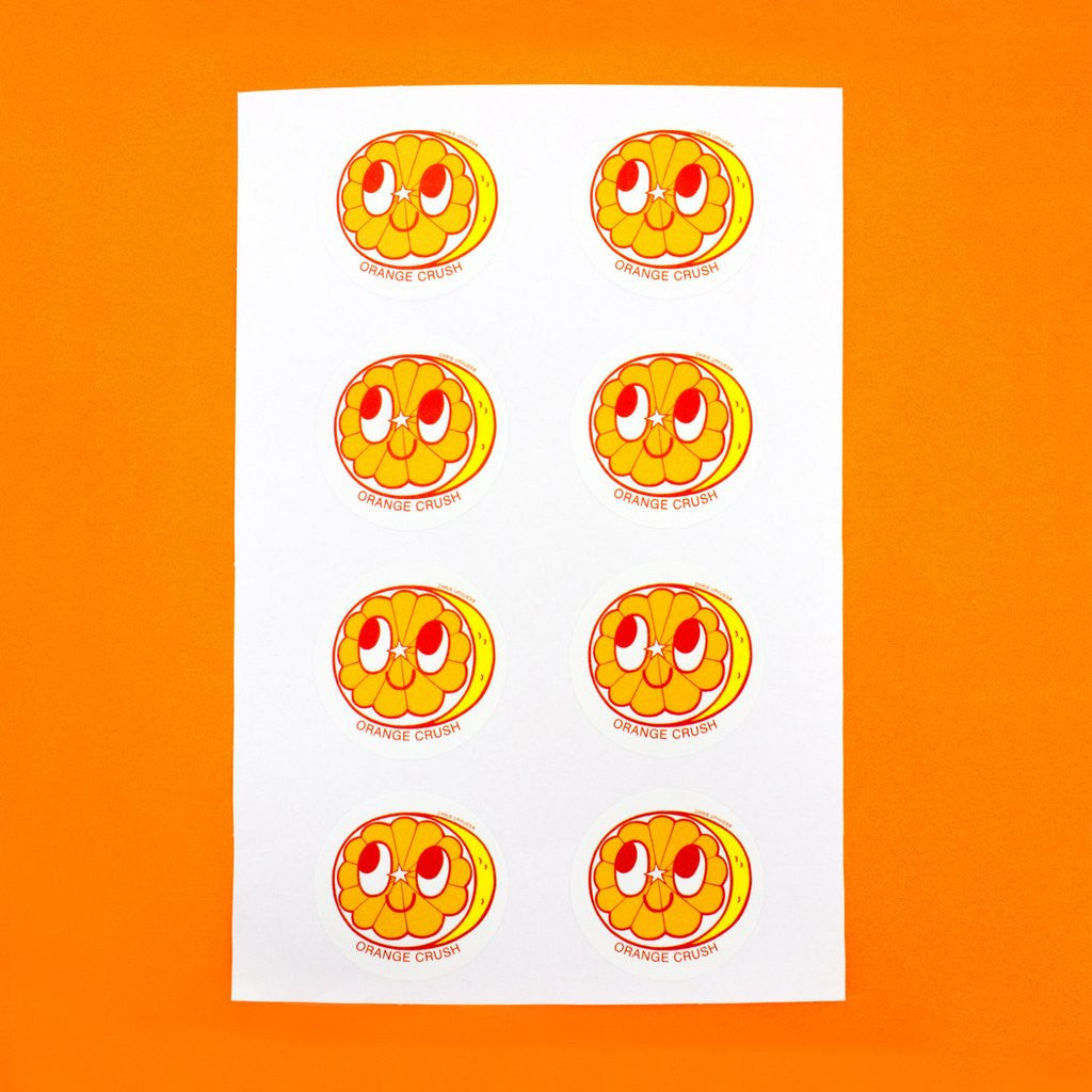Scratch + Sniff Sticker Set: Orange Crush
