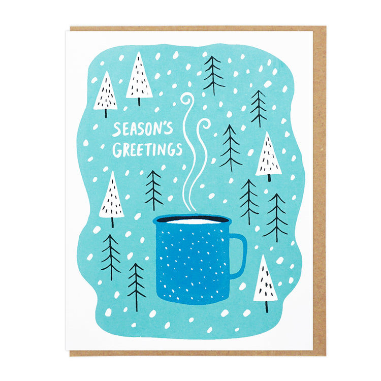 Season's Greetings Enamel Cup Card
