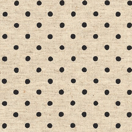Sevenberry: Canvas Natural Dots in Jet