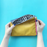 Sew a Leather Zipper Pouch