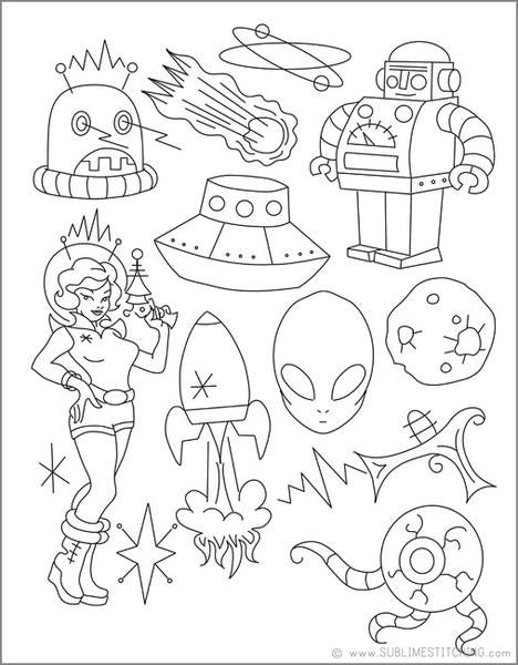 Spaced Out! Embroidery Patterns