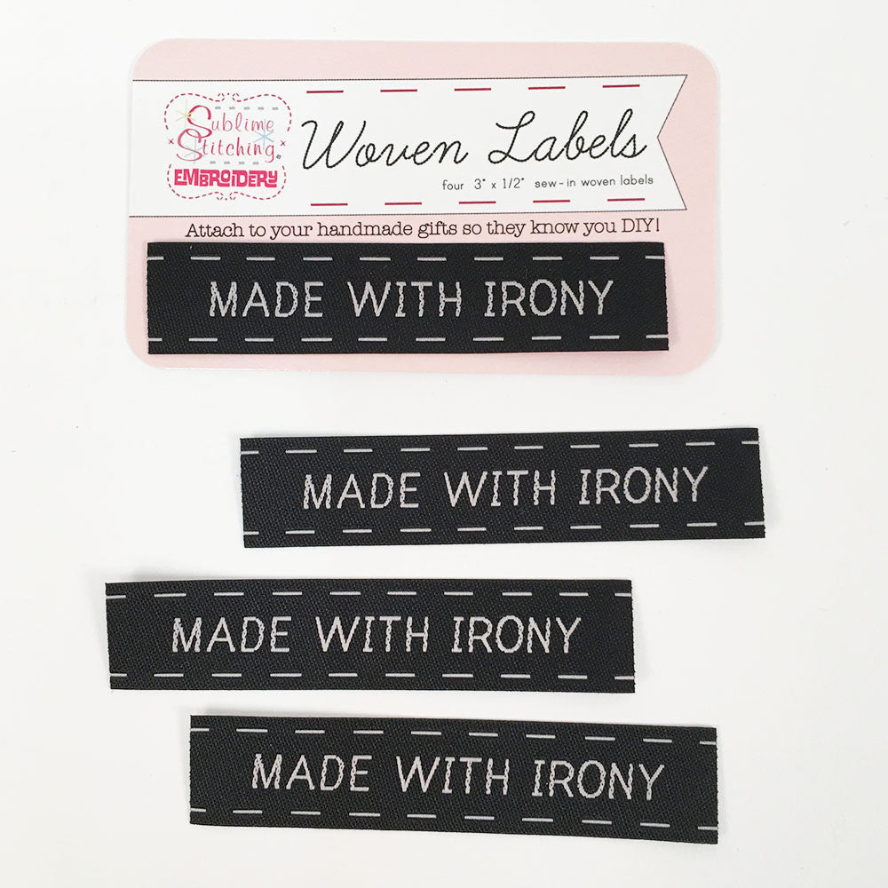 Made with Irony Woven Labels