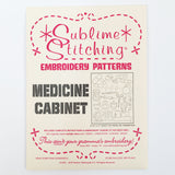 Medicine Cabinet Embroidery Patterns