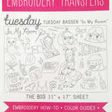 Tuesday Bassen Embroidery Pattern Transfers