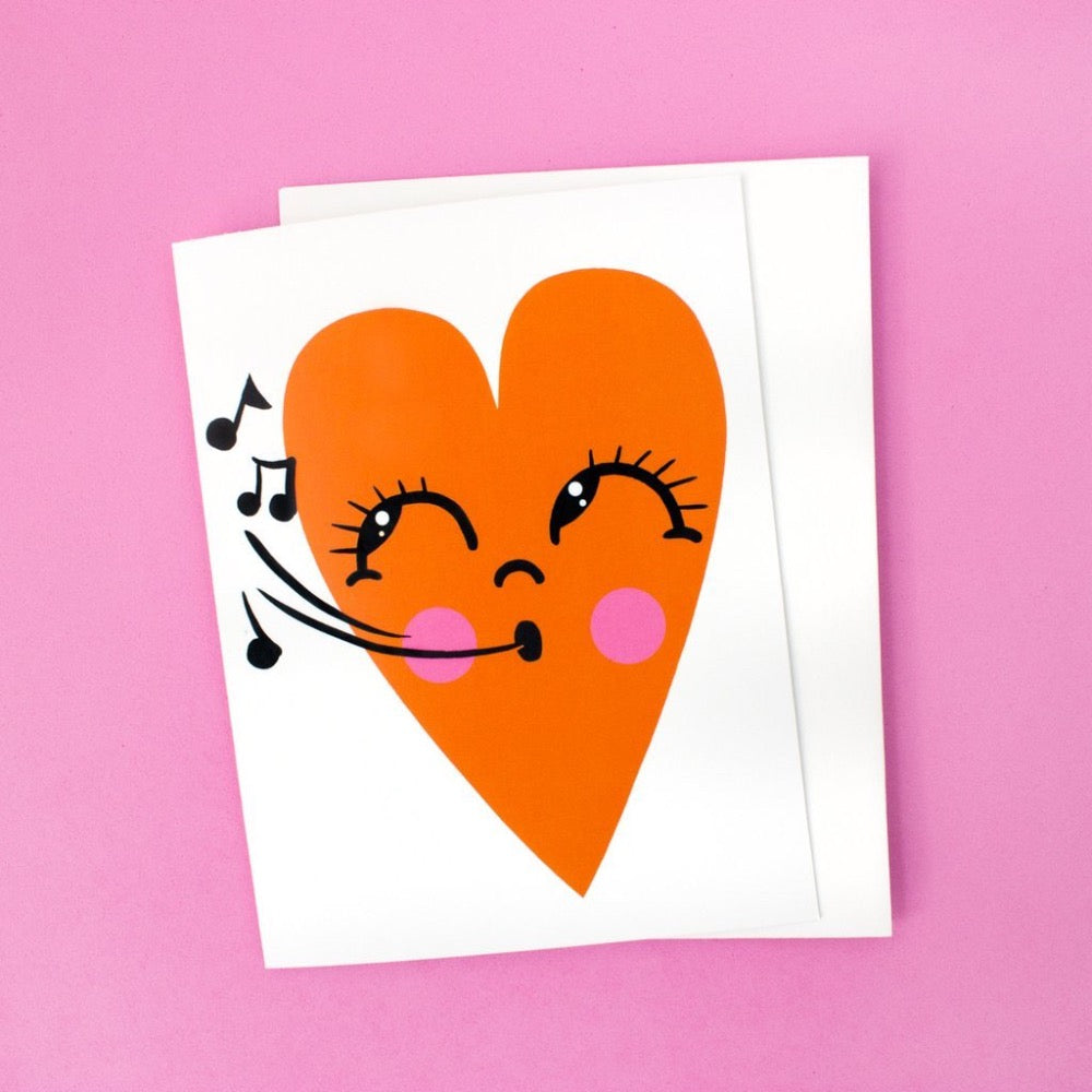 Whistling Happy Heart Card