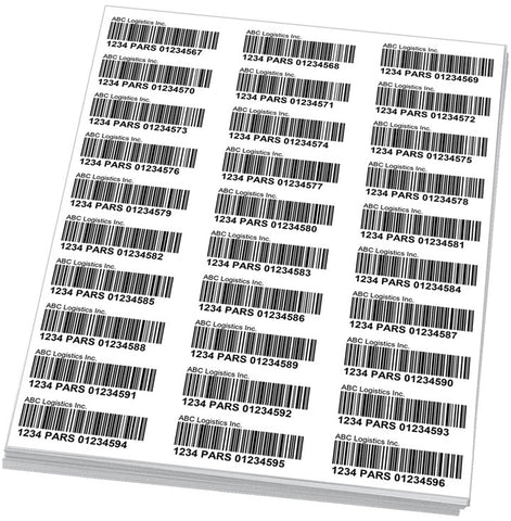 PARS Labels (Sheets)