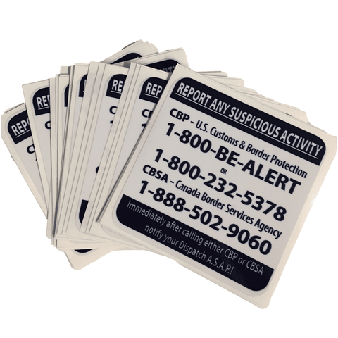 Report Suspicious Activity Stickers Decals BorderPrint