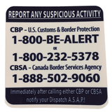 Report Suspicious Activity Stickers
