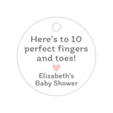 Here's to 10 perfect fingers and toes tags - Blush - Dazzling Daisies