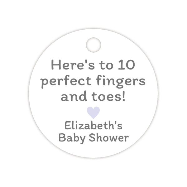 Here's to 10 perfect fingers and toes tags - Lavender - Dazzling Daisies