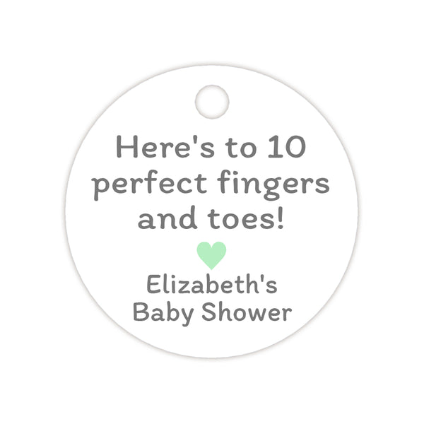 Here's to 10 perfect fingers and toes tags - Mint - Dazzling Daisies