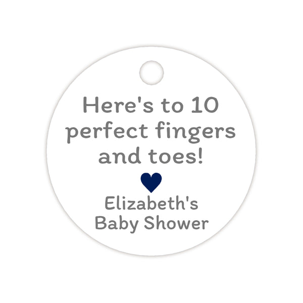 Here's to 10 perfect fingers and toes tags - Navy - Dazzling Daisies