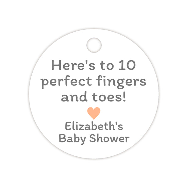 Here's to 10 perfect fingers and toes tags - Peach - Dazzling Daisies