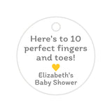 Here's to 10 perfect fingers and toes tags - Yellow - Dazzling Daisies