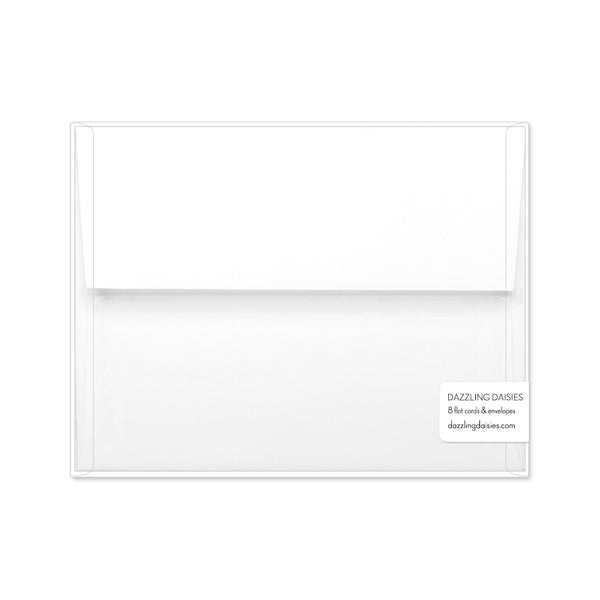 Personalized note cards 'Diamond Element' -  - Dazzling Daisies