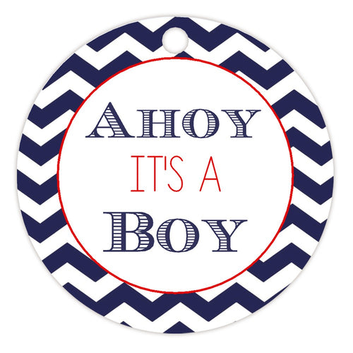 Ahoy it's a boy tags - Red - Dazzling Daisies