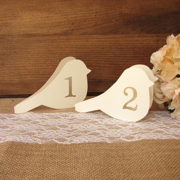 Bird table numbers - 1-6 / White - Dazzling Daisies