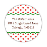 Christmas return address labels 'Gingerbread House' -  - Dazzling Daisies