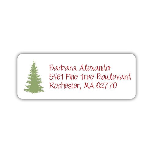 Christmas return address labels 'Fir Tree' -  - Dazzling Daisies