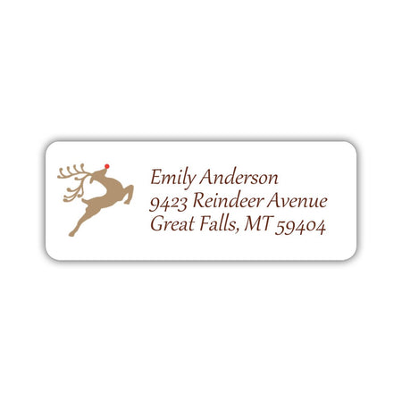 Holiday return address labels 'Holly'