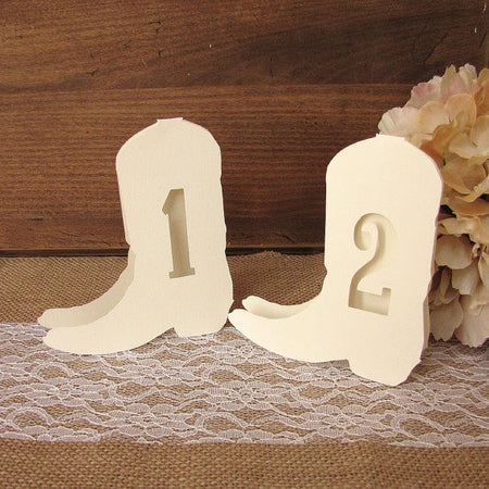 Rustic table numbers Double Bow