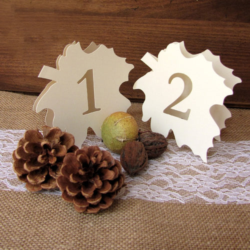 Fall wedding table numbers - 1-6 / White - Dazzling Daisies