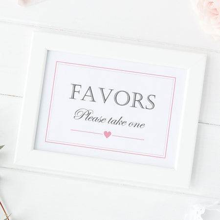 Favors sign 'Elevated Elegance'