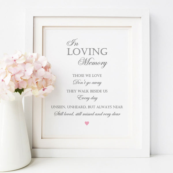 In loving memory sign -  - Dazzling Daisies