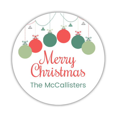 Merry Christmas stickers 'Festive Ornaments' -  - Dazzling Daisies