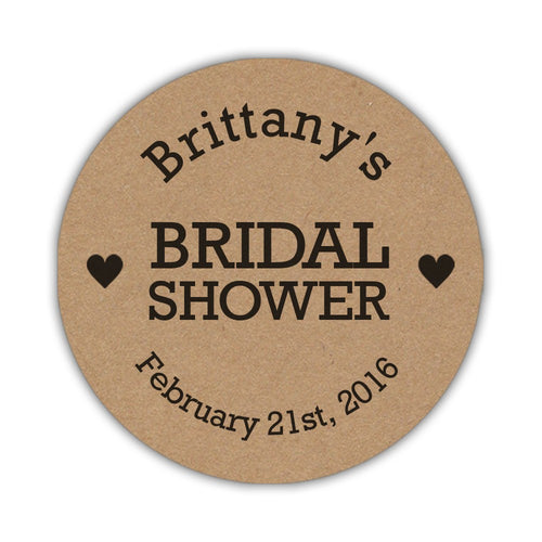 Rustic bridal shower stickers -  - Dazzling Daisies