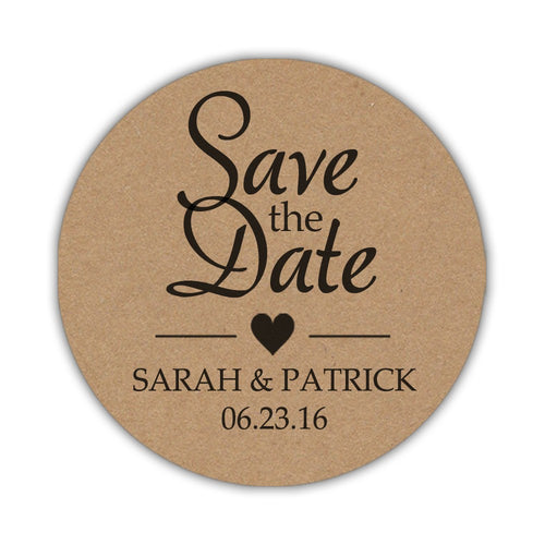 Save the date stickers 'Rustic Elegance' -  - Dazzling Daisies