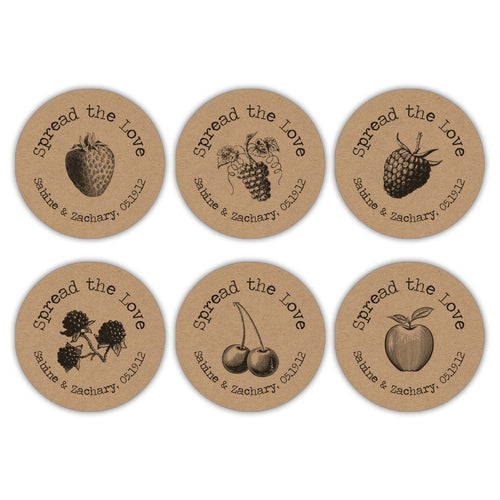 Spread the love stickers 'Fruit Passion' -  - Dazzling Daisies