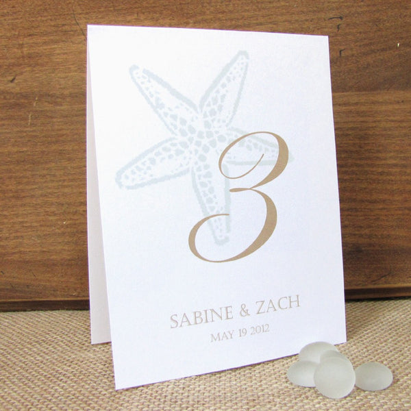 Starfish table numbers -  - Dazzling Daisies