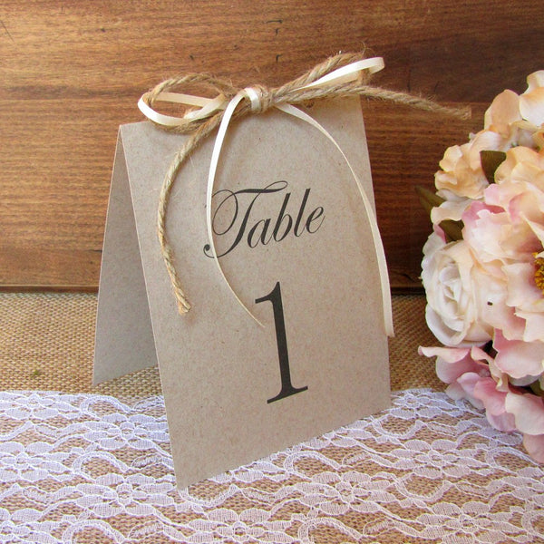 Rustic table numbers Double Bow -  - Dazzling Daisies