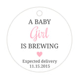 A baby is brewing tags - Girl - Dazzling Daisies