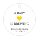 A baby is brewing tags - Neutral/Yellow - Dazzling Daisies