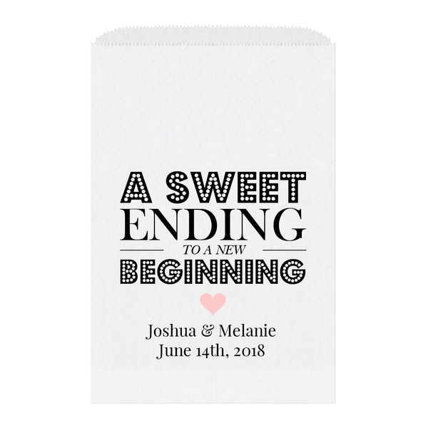 A sweet ending to a new beginning bags - Blush - Dazzling Daisies