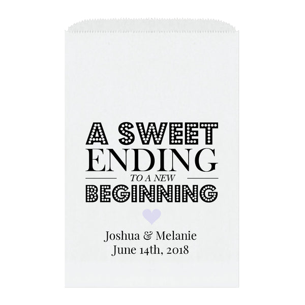 A sweet ending to a new beginning bags - Lavender - Dazzling Daisies