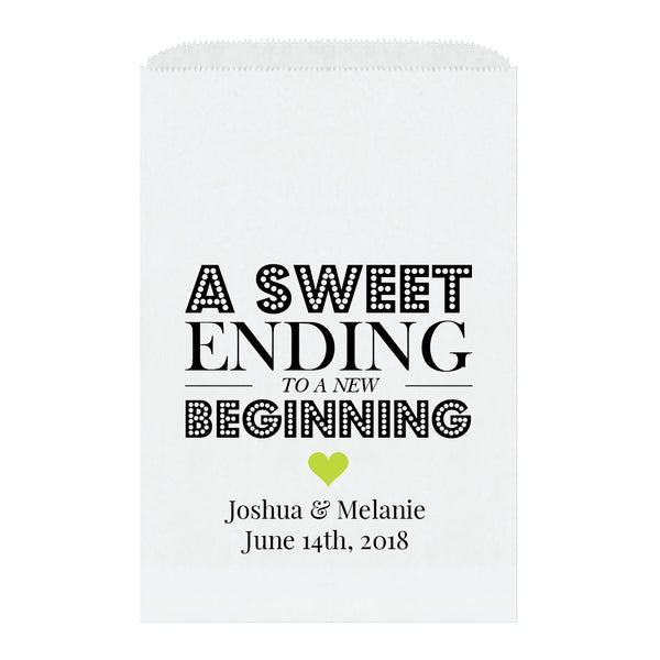 A sweet ending to a new beginning bags - Lime - Dazzling Daisies